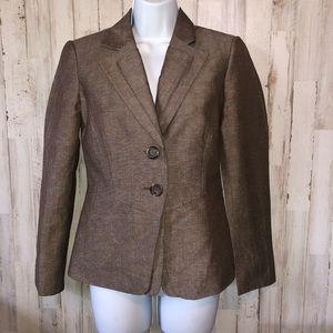 Tahari Brown Tone Blazer Jacket